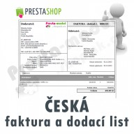 Module for PrestaShop - [Module] Czech invoices and delivery notes - Presta-module 1.5.x, 1.6.x
