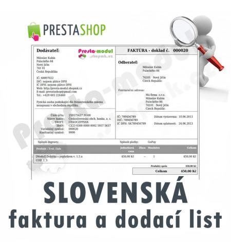 [Modul] Slovenská Faktura a Dodací List