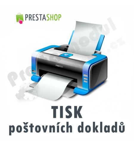 [Modul] Tisk poštovních dokladů