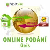 Modul pro PrestaShop - [MODUL] Online podání GEIS (exp/imp CSV) - Presta-modul 1.5.x, 1.6.x