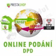 [Modul] Online podání DPD (exp/imp CSV)