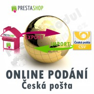 Module for PrestaShop - [MODULE] Czech Post online submission (exp/imp CSV) - Presta-module 1.5.x, 1.6.x