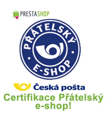 [Modul] Česká pošta - certifikace Přátelský e-shop!